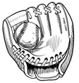 Doodle baseball glove vector | Price: 1 Credit (USD $1)