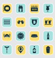 drink icons set with beer mug rum ale box and vector image