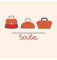 fashion red handbag vector image