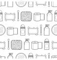 Feminine hygiene Seamless pattern with cosmetics vector image vector image