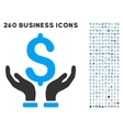 Financial Insurance Hands Icon with Flat vector image vector image