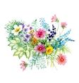 Flowers watercolor Manual vector image