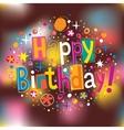 Happy Birthday 3 vector image vector image