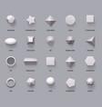 hexagonal realistic 3d shapes basic geometric vector image vector image