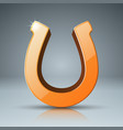 horseshoe 3d yellow icon vector image