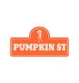 house halloween nameplate vector image vector image