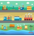 Industrial buildings factories horizontal banners vector image vector image