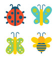 insects collection creatures vector image