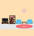 interior living room with furniture and window and vector image vector image