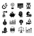 investment icons set vector image