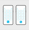 keypad on smartphone vector image vector image