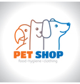 Logo pet vector image