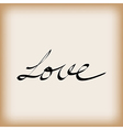 Love word on old paper vector image vector image