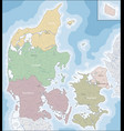 map of denmark vector image vector image