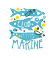 marine club original logo design summer travel vector image vector image