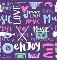 music love motivation lables badges seamless vector image vector image
