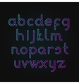 neon alphabet Font vector image vector image