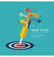 New year resolution concept vector image