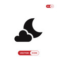 night icon vector image vector image