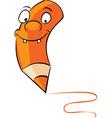 orange crayon vector image