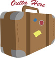 Outta Here vector image vector image
