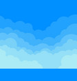 paper clouds and blue sky background vector image
