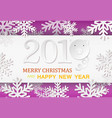 paper pig with count simbol of new year unusual vector image vector image