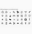 project management icons vector image vector image