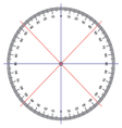 Protractor Actual Size Graduation vector image vector image