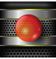 red glass sphere vector image vector image