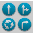 road sign with arrow vector image vector image