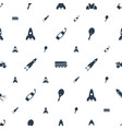 rocket icons pattern seamless white background vector image vector image