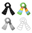scarf for boy and girl in cold weather coton vector image vector image