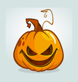 Scary Halloween pumpkin cartoon vector image vector image