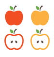 Set of apples concept template vector image vector image