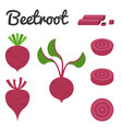 set of fruit and vegetable beetroot vector image
