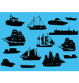 ships collection vector image vector image