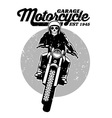 skull riding a motorcycle vector image vector image