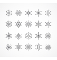 Snowlakes set geometric Christmas pattern vector image vector image