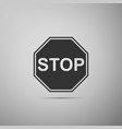 stop sign traffic regulatory warning stop symbol vector image vector image