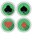 suit playing cards flat style vector image vector image