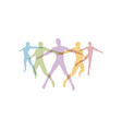 team concept crowd of people icon silhouettes vector image
