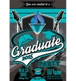 template for the posters to graduate party vector image vector image