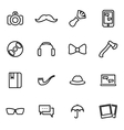 thin line icons - hipster vector image