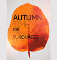 typographical poster for autumn sales vector image vector image