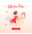 valentines gift for her vector image vector image