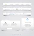 Web site navigation menu pack vector image vector image