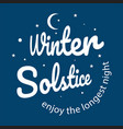 winter soltice lettering hand drawn winter vector image vector image