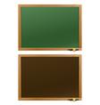Wood school desks set vector image