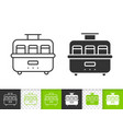 yogurt maker simple black line icon vector image